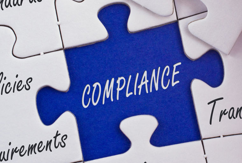 puzzle graphic with a missing piece called compliance